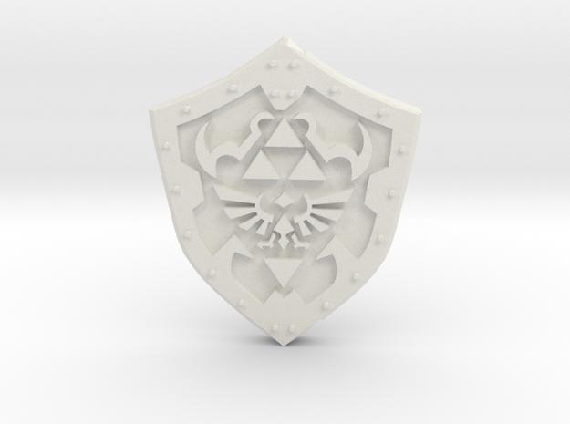 Hero Shield in White Natural Versatile Plastic