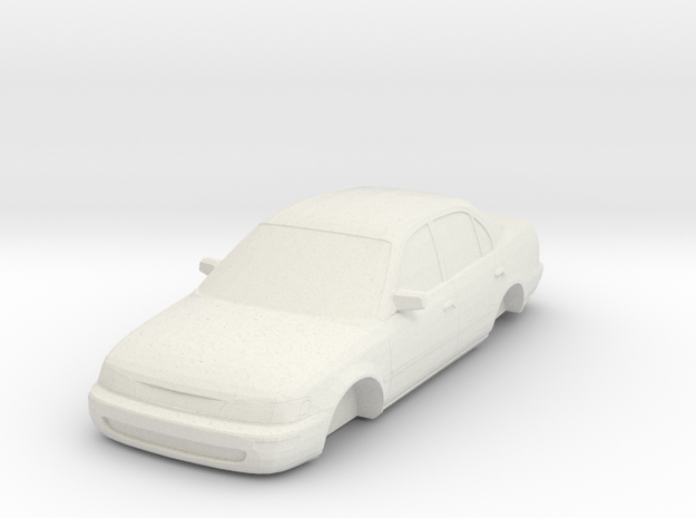 ho scale 1993-1997 toyota corolla in White Strong & Flexible
