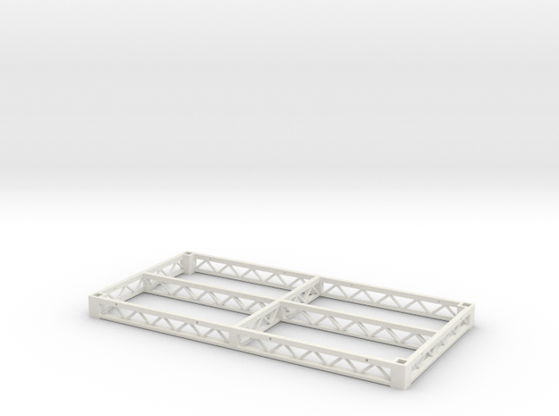 1:25 Steeldeck 8x4, frame only in White Natural Versatile Plastic