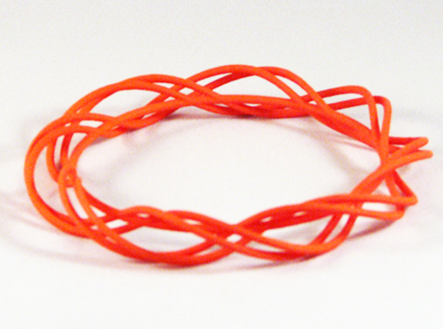 Twist Bangle  C01L in Orange Processed Versatile Plastic