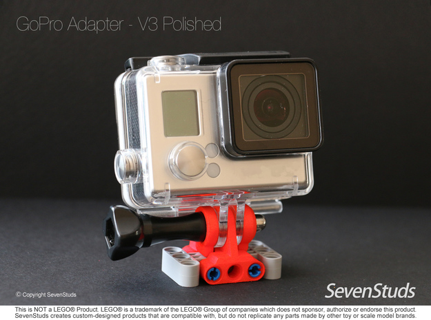 GoPro Mount for LEGO® Technic - Color