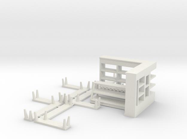 Moebel Konditorei 3 Stueck Combined in White Natural Versatile Plastic