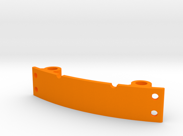 LED mount for ZMR250 with integrated wire holes in Orange Strong & Flexible Polished