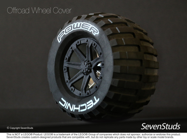 Offroad Wheel Cover 02_56mm in Black Natural Versatile Plastic