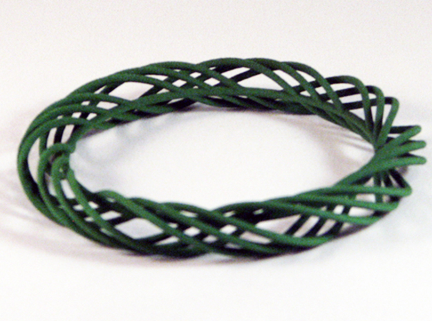 Twist Bangle C02M in Green Processed Versatile Plastic