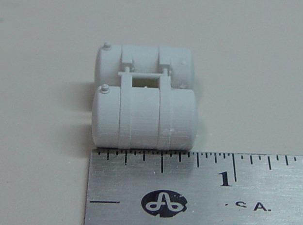"""1:64 Scale """"Shorty"""" Pete Tanks - 5 Pairs in Frosted Ultra Detail"""