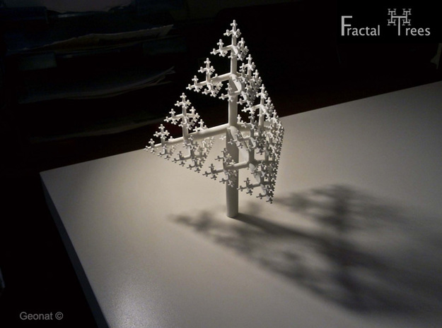 Sierpinski Tetrahedron Fractal Tree in White Strong & Flexible