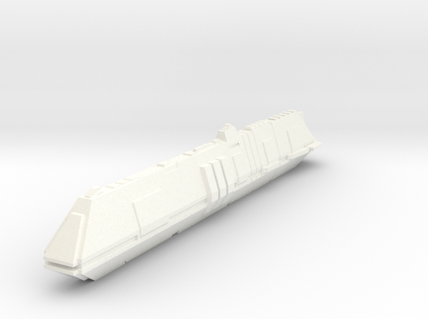Futuristic Submarine Concept - Deep Shadow in White Strong & Flexible Polished