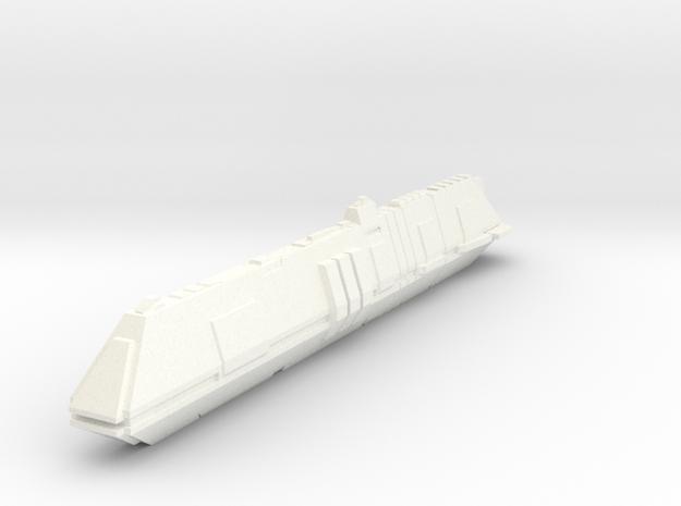 Futuristic Submarine Concept - Deep Shadow in White Processed Versatile Plastic