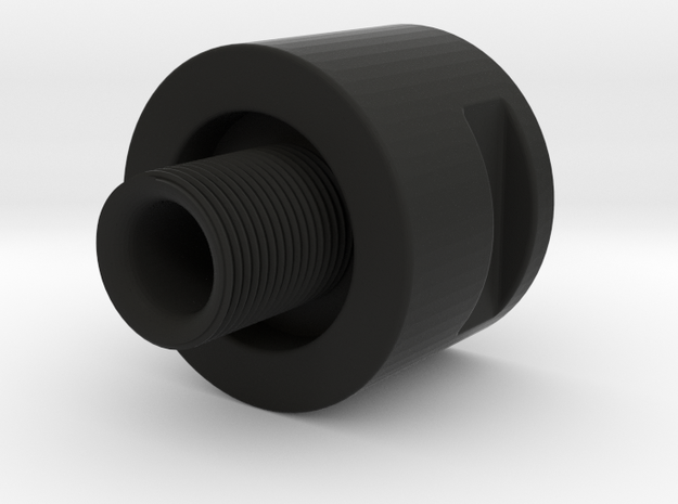 Barrel Adapter Thread Male 14mm CW to Female 14mm  in Black Natural Versatile Plastic