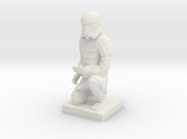 Terracotta Trooper in White Natural Versatile Plastic