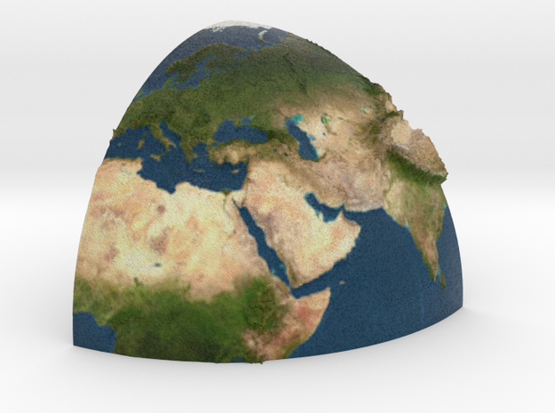Second part of planet earth sectioned quarter in Full Color Sandstone