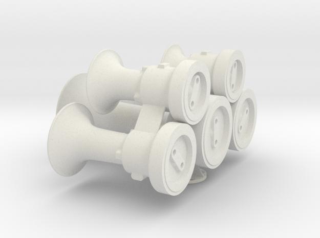 "M5 Horn 2.5"" (1:4.5) scale in White Natural Versatile Plastic"