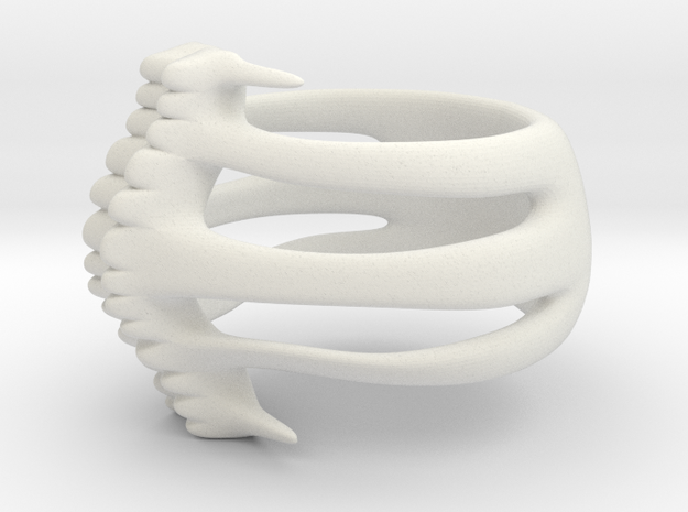 Spine Ring in White Strong & Flexible