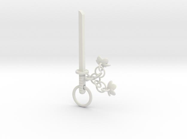 Cherry Blossom Charm Katana in White Natural Versatile Plastic