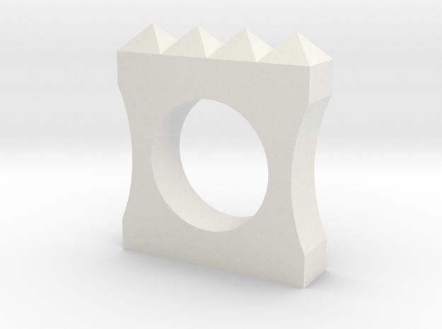 Anello Quadro in White Natural Versatile Plastic