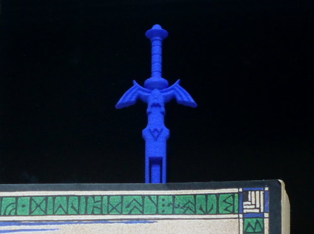 Zelda Master Sword Bookmark in Blue Processed Versatile Plastic