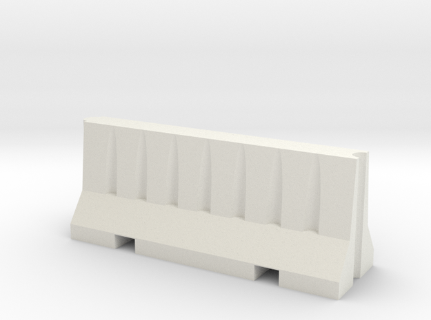 1/14 Scale Road Barrier in White Strong & Flexible