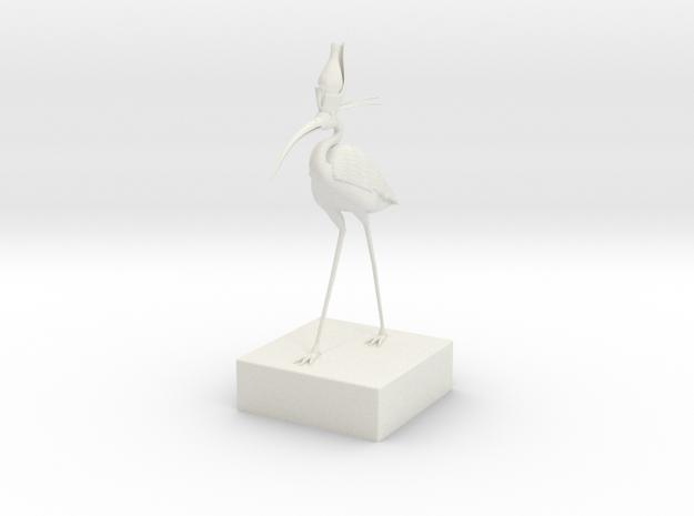 Egyptian Ibis in White Natural Versatile Plastic