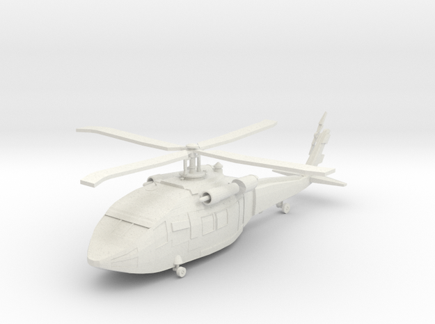 Helicopter in White Natural Versatile Plastic