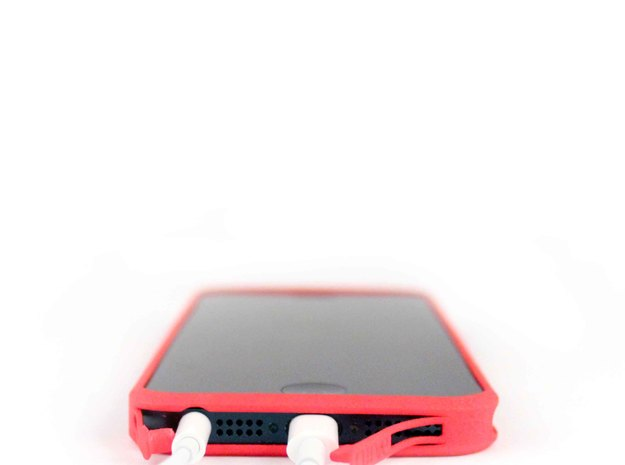 Brute with plugs for iPhone 5 in Blue Processed Versatile Plastic
