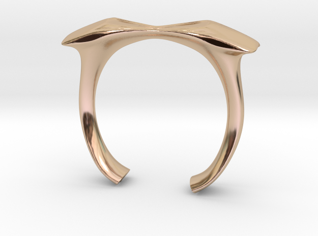 Finger Bow Tie Ring in 14k Rose Gold Plated