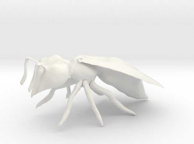 Bee in White Natural Versatile Plastic