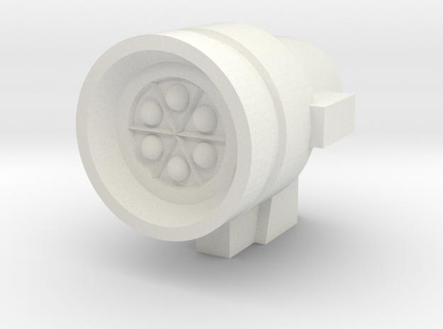 Missile Pod - Small Round in White Natural Versatile Plastic