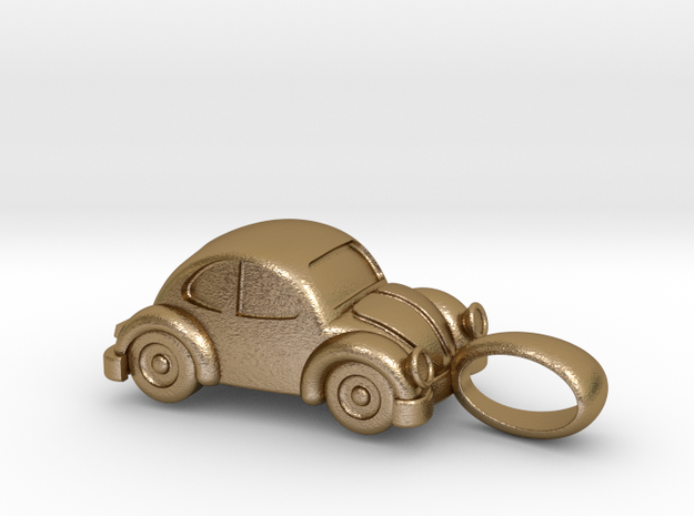 Pendant VW Kodok in Polished Gold Steel