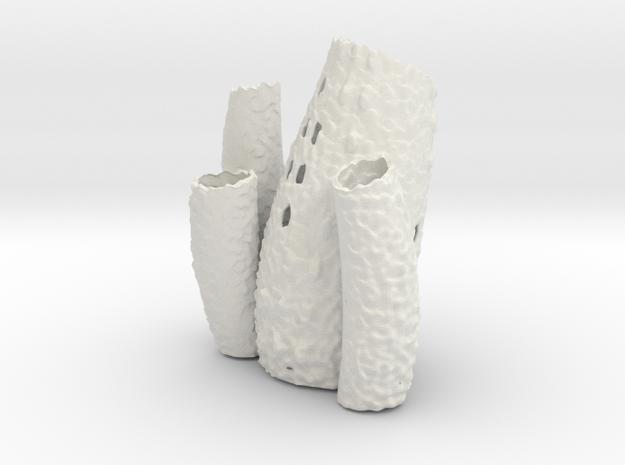 Porifera Vase / Holder - Large in White Natural Versatile Plastic