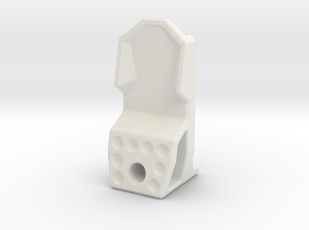 10-M-09 Type-EN-MP Embossed in White Natural Versatile Plastic