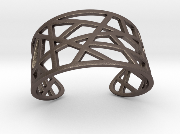 POLLY cuff bracelet  in Polished Bronzed Silver Steel