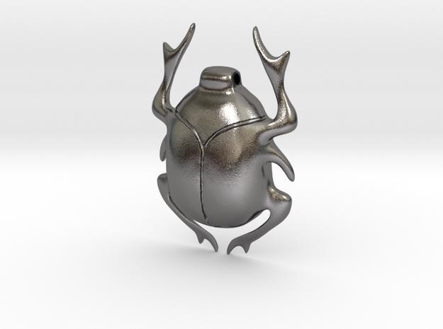 SCARAB pendant  in Polished Nickel Steel