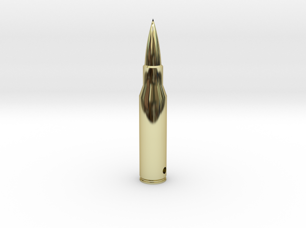 Bullet Pendant in 18k Gold Plated Brass