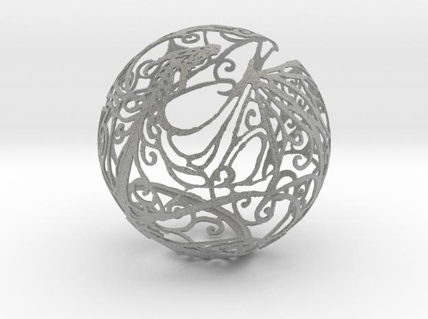 Dragon Sphere Ornament in Metallic Plastic