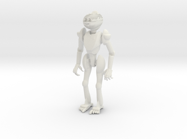 Robot4 in White Natural Versatile Plastic
