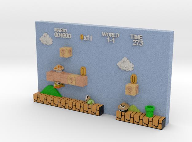 Super Mario Level-3D-Print in Full Color Sandstone