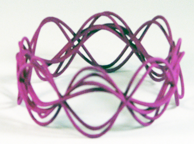 Wave Bangle B25M in Purple Strong & Flexible Polished