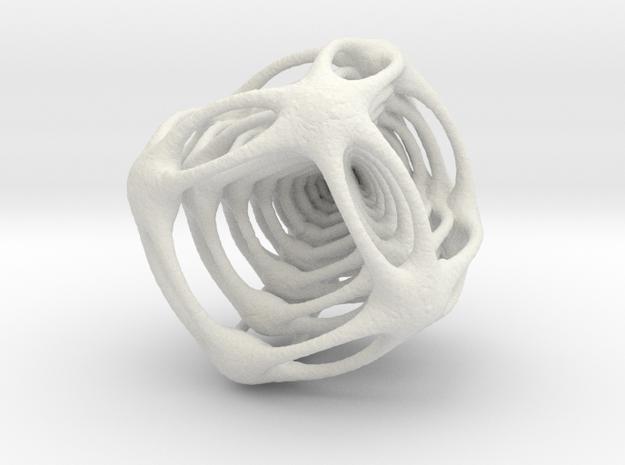 Alien Cube in White Natural Versatile Plastic