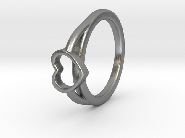 ø0.722-ø18.35 Mm Heart Ring A in Natural Silver