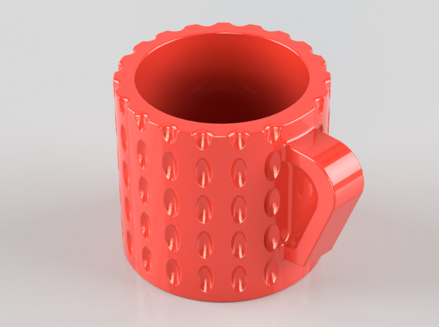 Espresso Cup in Red Strong & Flexible Polished