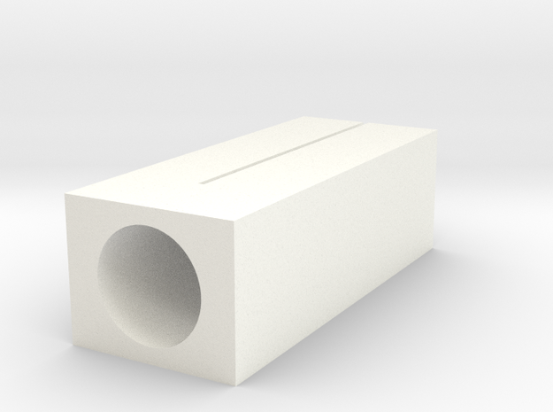 6/10mm Tube Cutter, 3mm Deep (Simple) in White Processed Versatile Plastic