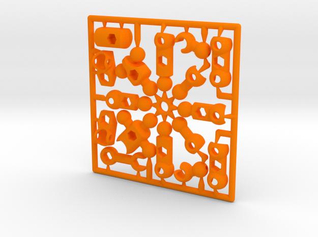 ModiBot Myke- Microfigure frame 3d printed Mighty Myke