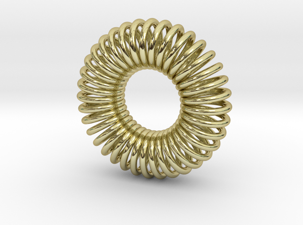 Torus Pendant 23mm in 18k Gold Plated