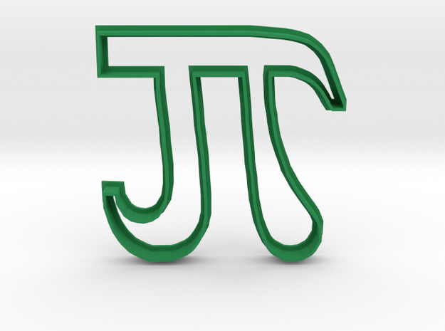 Pi Cookie Cutter in Green Processed Versatile Plastic