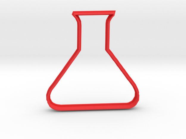 Flask Cookie Cutter in Red Processed Versatile Plastic