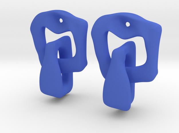 LYNX Earrings in Blue Strong & Flexible Polished
