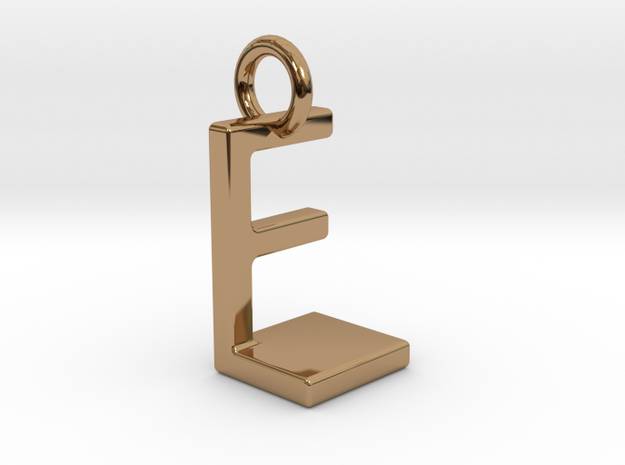 Two way letter pendant - EL LE in Polished Brass