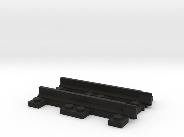 Narrow Gauge Straight - Adapter in Black Strong & Flexible