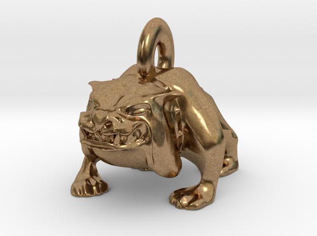 Bulldog Pendant in Natural Brass